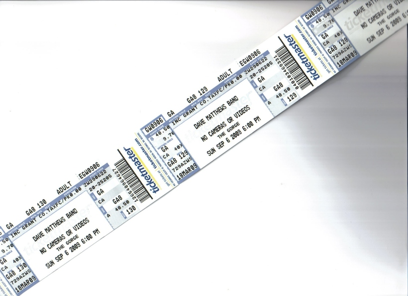 Tickets in HAND! Dave here we come!